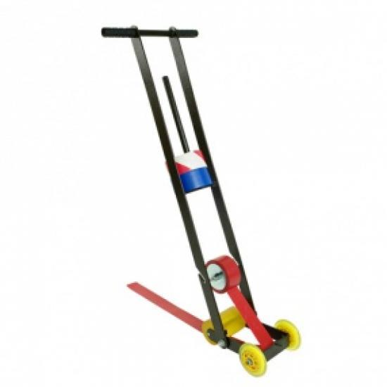 Vozík pro aplikaci podlahových pásek