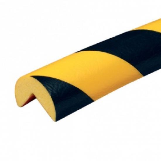 Varovný profil žluto-černý Ø 4 cm - Samolep.