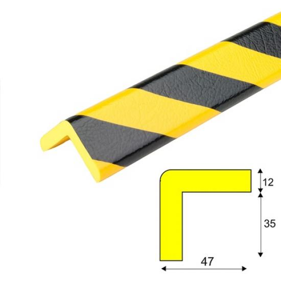 Varovný profil žluto-černý 4,7 x 4,7 cm - Samolep.