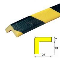 Varovný profil žluto-černý 2,6 x 2,6 cm - Samolep.