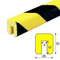 Varovný profil žluto-černý 2,6 x 3 cm - Samolep.