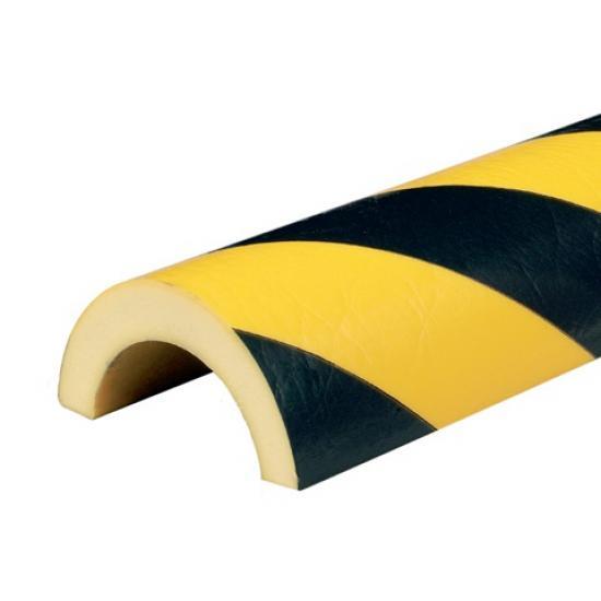 Varovný profil žluto-černý Ø 7 cm - Samolep.