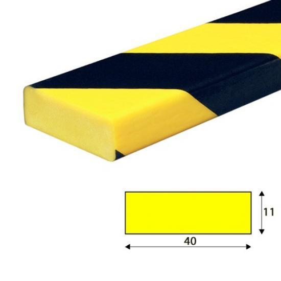Varovný profil žluto-černý 4 x 1,1 cm - Samolep.