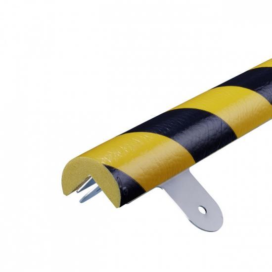 Varovný profil žluto-černý Ø 4 cm - Na šrouby