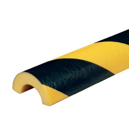 Varovný profil žluto-černý Ø 5 cm - Samolep.