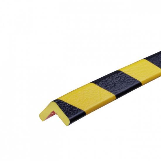 Varovný profil žluto-černý 2,6 x 2,6 cm - Magnet