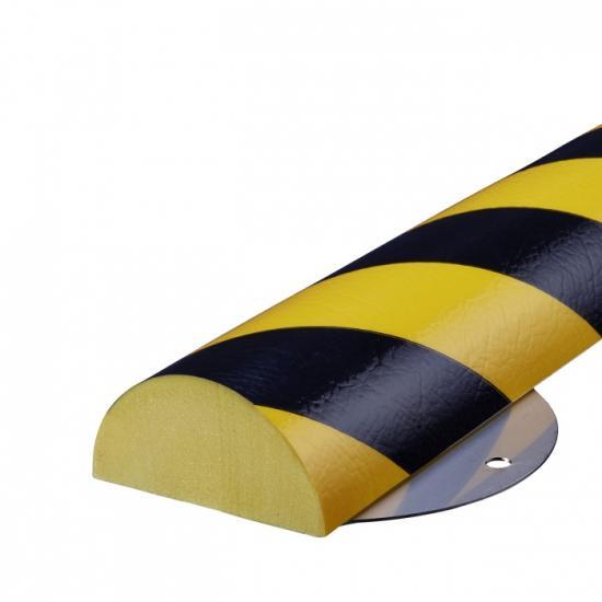 Varovný profil žluto-černý 7 x 3,5 cm - Na šrouby