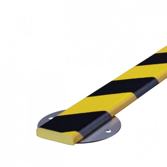 Varovný profil žluto-černý 4 x 1,1 cm - Šrouby.