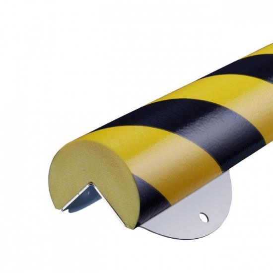 Varovný profil žluto-černý Ø 6 cm - Na šrouby