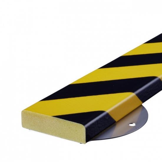 Varovný profil žluto-černý 7,5 x 2 cm - Na šrouby