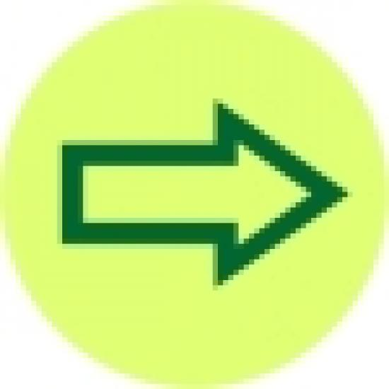 Fotoluminiscenční kolečko se šipkou