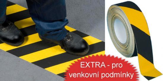 Protiskluzová páska PERMAFIX HAZARD EXTRA žluto-černá