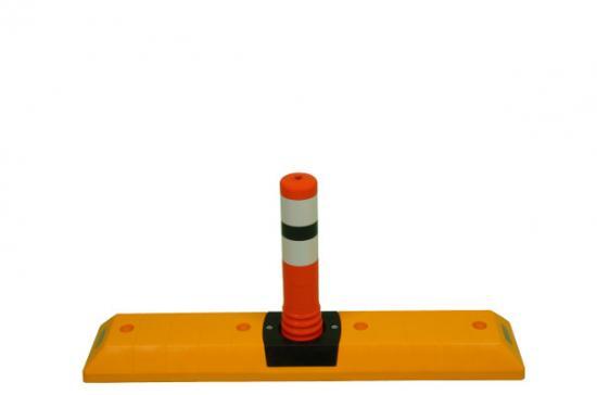 """Parkovací doraz """"PingPong"""" s oranžovou tyčí  MALÝ"""