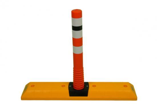 """Parkovací doraz """"PingPong"""" s oranžovou tyčí VELKÝ"""