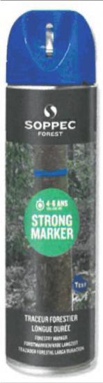 Lesnický značkovací sprej STRONG Marker Soppec modrý 500ml