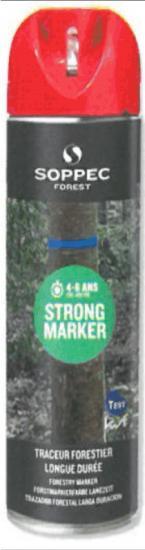 Lesnický značkovací sprej STRONG Marker Soppec červený 500ml