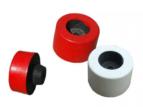 Obrubník  konec barevný bílý nebo červený
