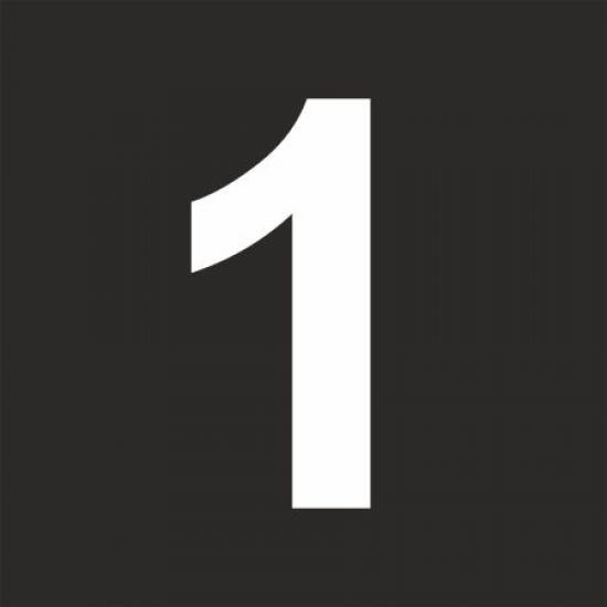 """Šablona číslice """"1"""""""