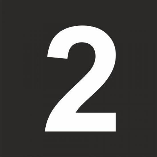 """Šablona číslice """"2"""""""