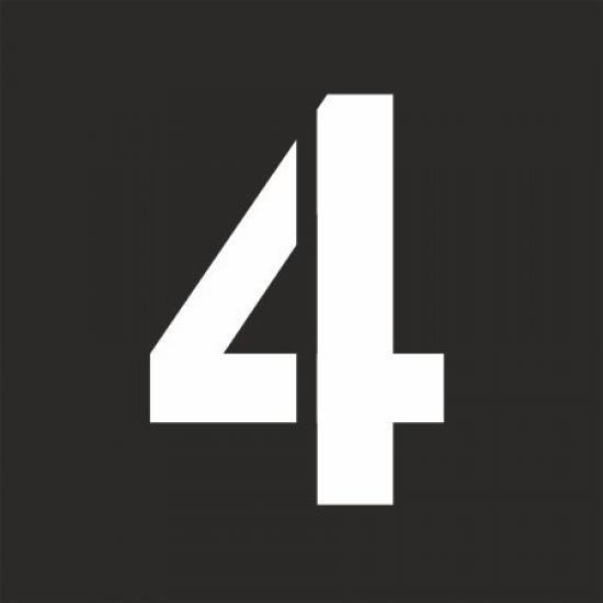 """Šablona číslice """"4"""""""