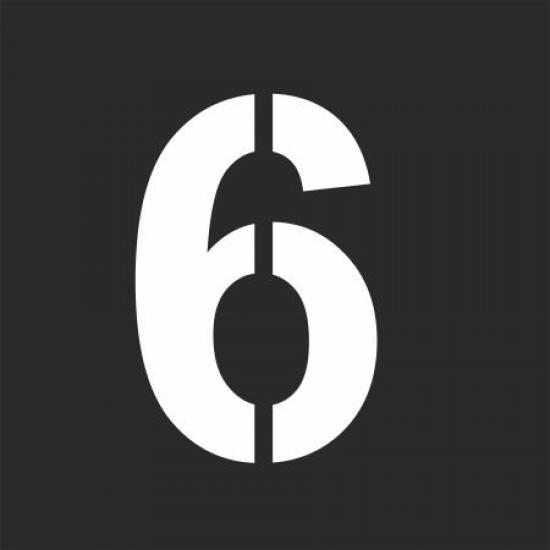 """Šablona číslice """"6"""""""