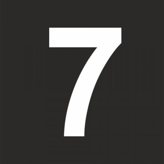 """Šablona číslice """"7"""""""