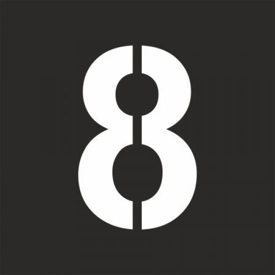 """Šablona číslice """"8"""""""