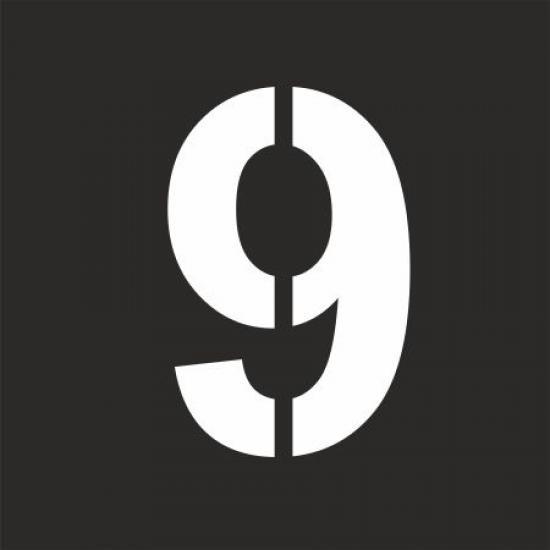 """Šablona číslice """"9"""""""