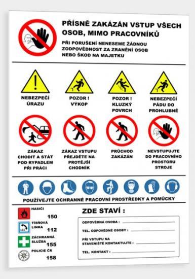 Bezpečnostní banner-ZEMNÍ PRÁCE