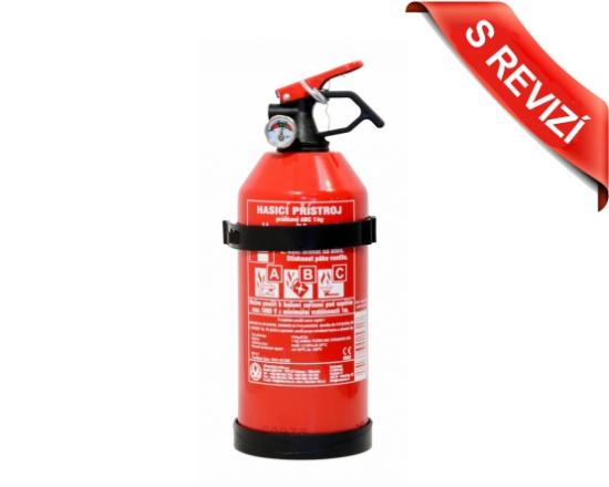 Práškový hasicí přístroj S REVIZÍ, 1 kg (8A/34B/C)