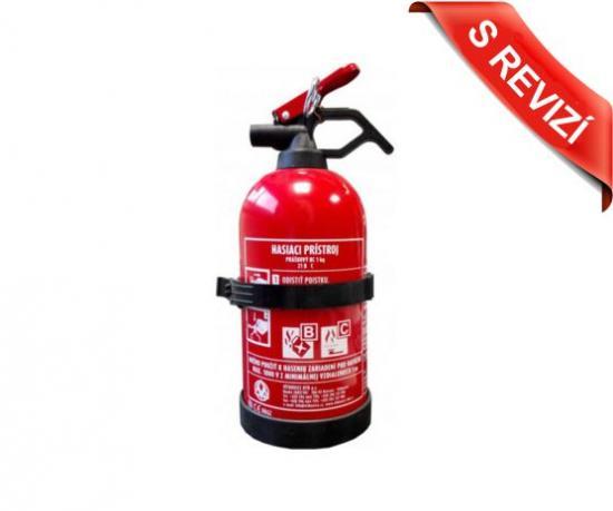 Práškový hasicí přístroj do auta S REVIZÍ 1 kg (21B/C)
