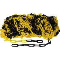 Plastový řetěz žluto černý 10m, průměr článku 6mm