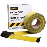 Ohraničovací páska žluto/černá 500m v krabici kolmé pruhy