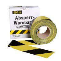 Ohraničovací páska žluto/černá 500m v krabici šikmé pruhy