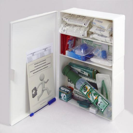 Lékárnička s výbavou pro KOTELNY závěsná plastová