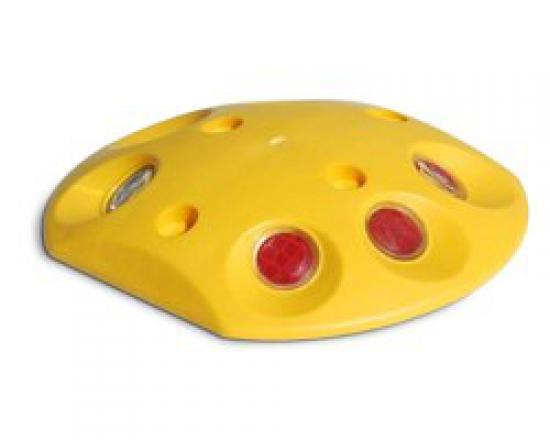 Dopravní značicí knoflík kulatý žlutý