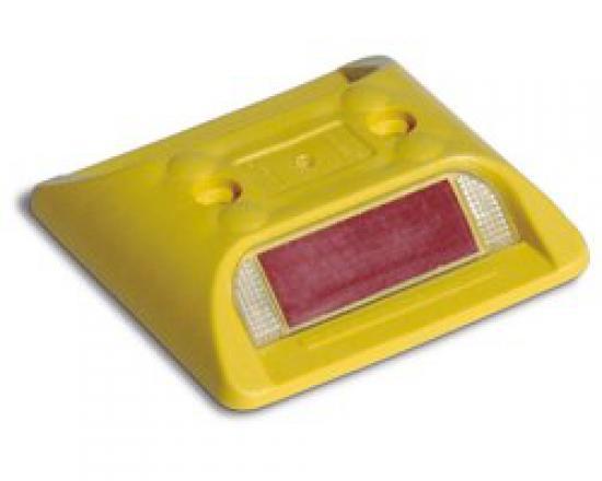 Dopravní značicí knoflík čtvercový žlutý