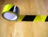 Páska samolepicí  výstražná žluto/černá - PP délka 66mx50mm