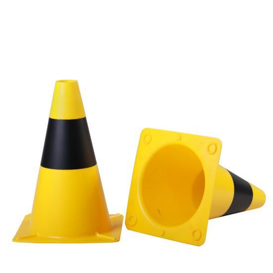 Dopravní kužel žluto/černý  30 cm tvrzené PE