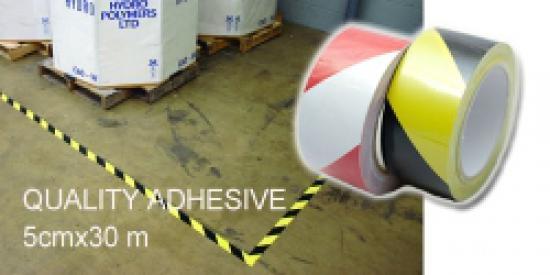 Páska samolepicí výstražná žluto/černá-PVC - délka 33mx50mm