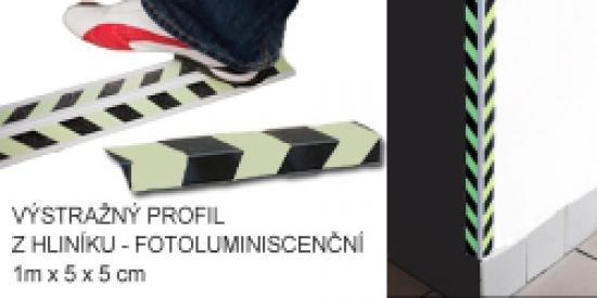 Ochranný profil na rohy - fotoluminiscenční