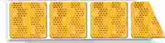 Reflexní páska  ŽLUTÁ pro flexibilní povrch