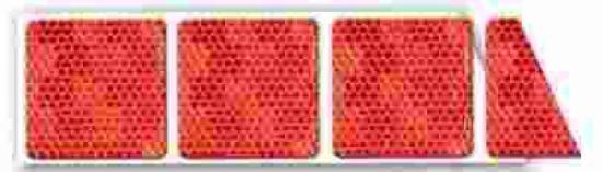 Reflexní páska  ČERVENÁ pro flexibilní povrch