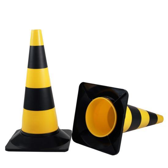 Dopravní kužel žluto/černý 50 cm tvrzené PE
