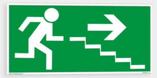 Únikové schodiště (vpravo dolů) - Samolepka/Plast