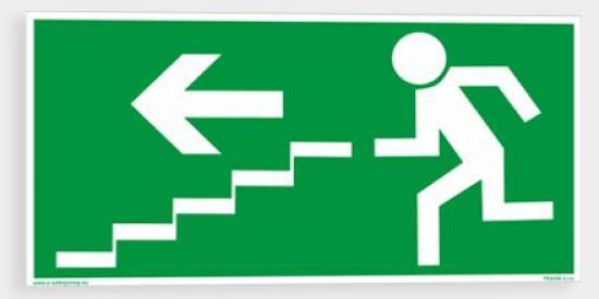 Únikové schodiště (vlevo dolů) - Samolepka/Plast
