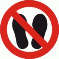 Nevstupuj na plochu - nohy