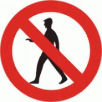 Zákaz vstupu (člověk) - tabulka plast