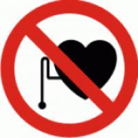 Zákaz vstupu s kardiostimulátorem