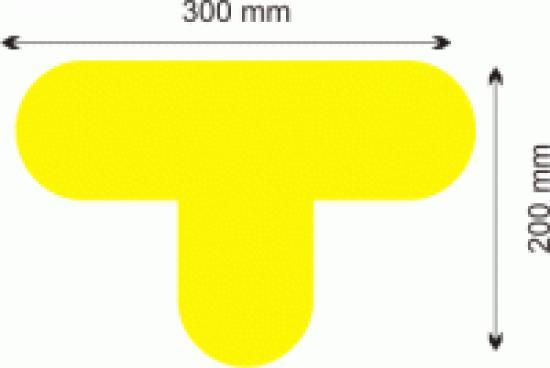 Podlahová značka - T žlutá, 300x200mm